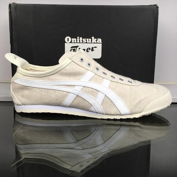 premium selection e8a46 b581e ASICS ONITSUKA Off White Mexico 66 Slip-On NWT
